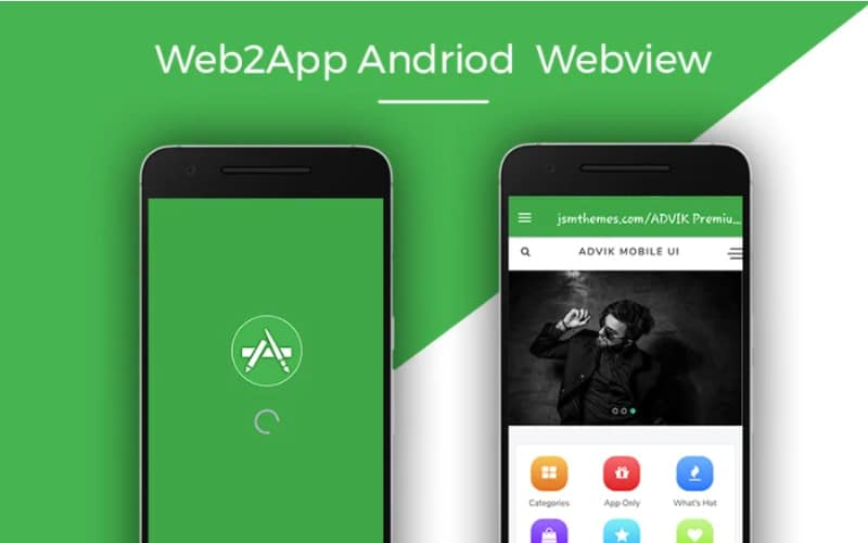 Web2App Android Webview App Template Website Template