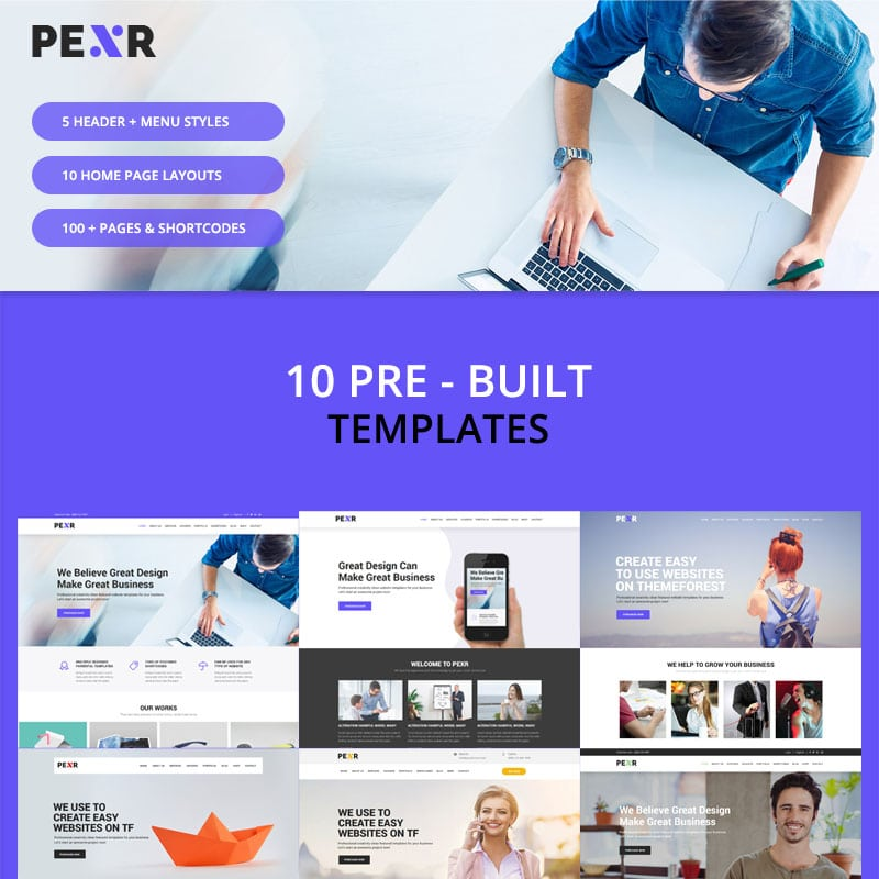 Pexr Website Template