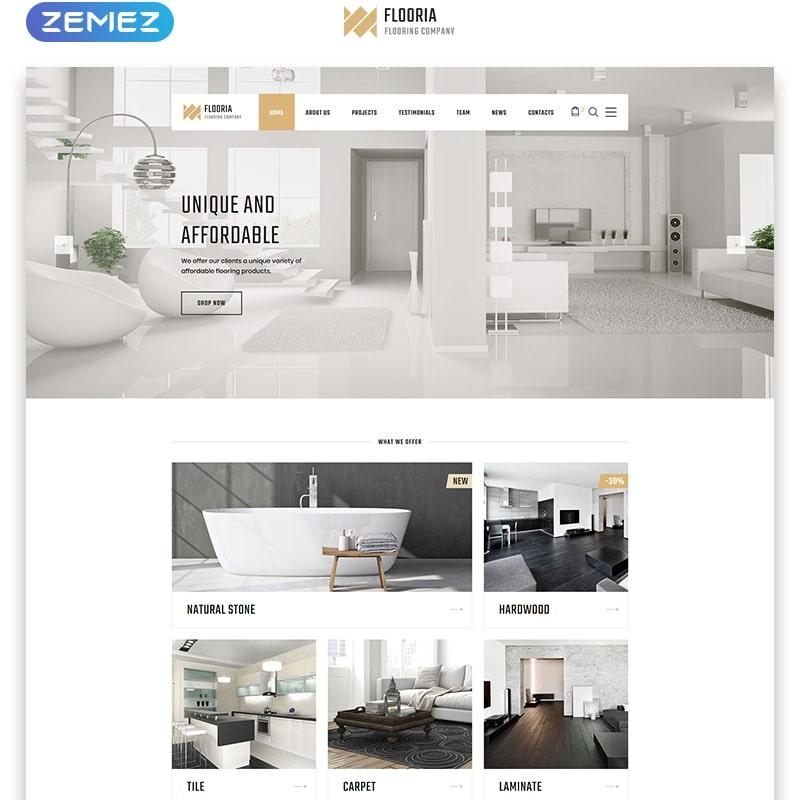 Flooria Website Template