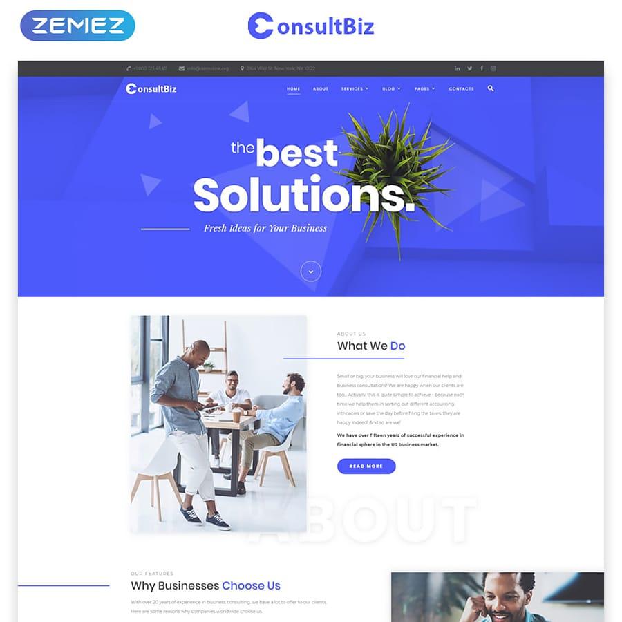 ConsultBiz Website Template
