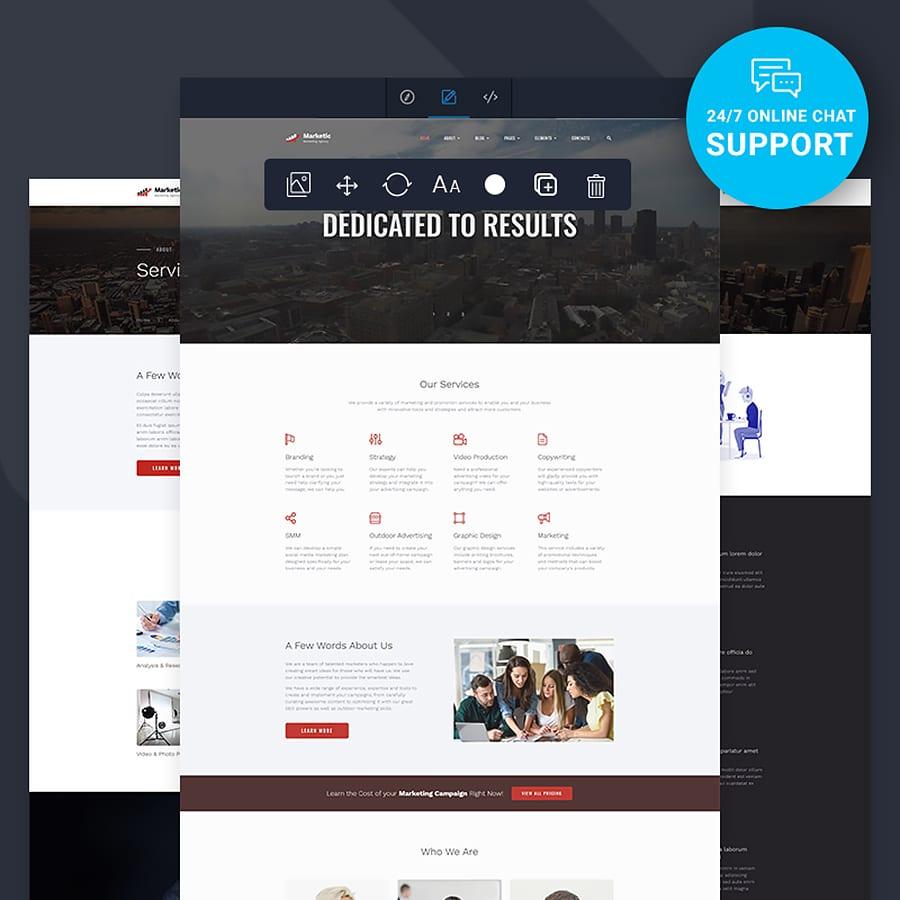 Marketic Website Template