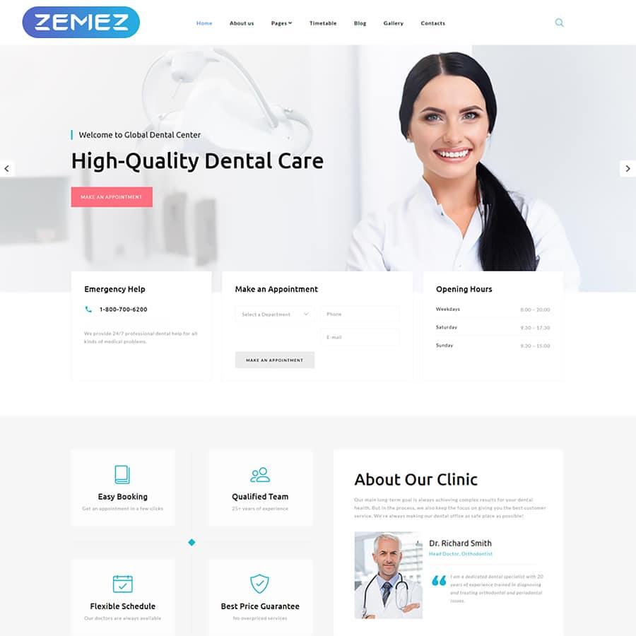 Global Dental Center Website Template