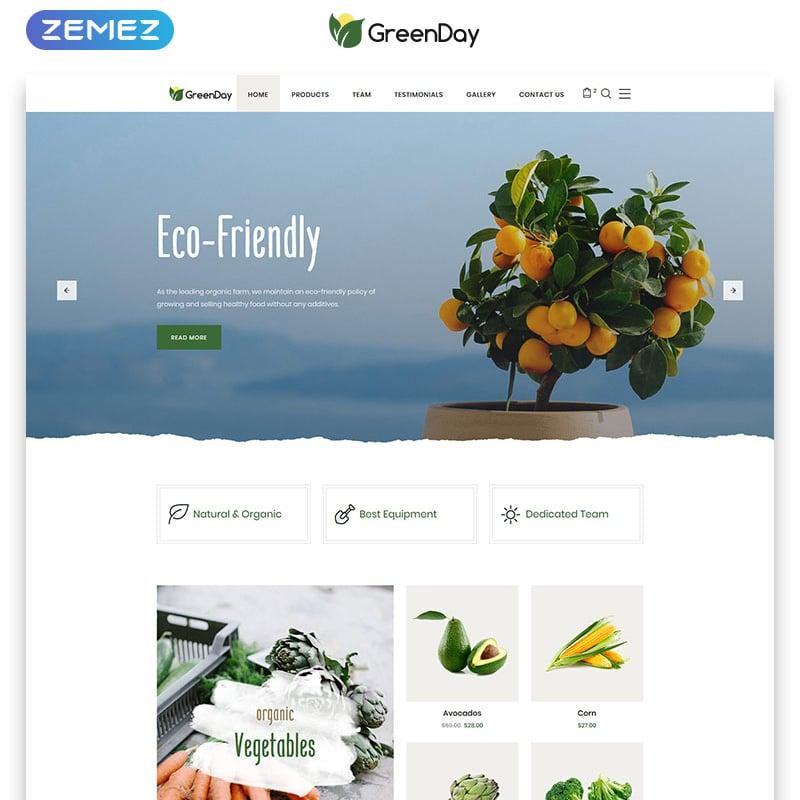 Green Day Website Template