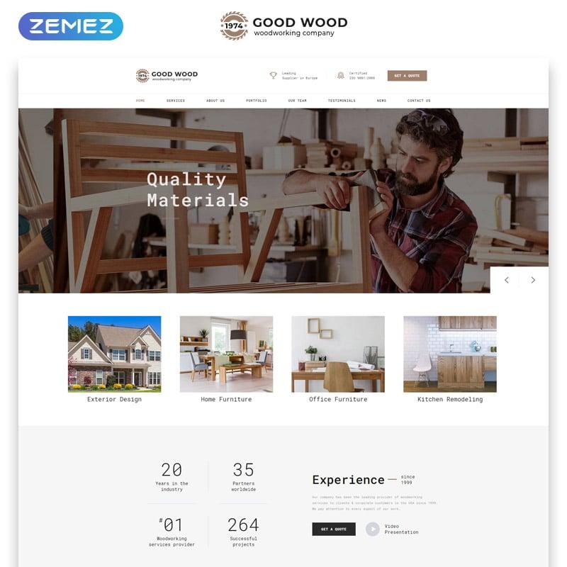 Good Wood Website Template