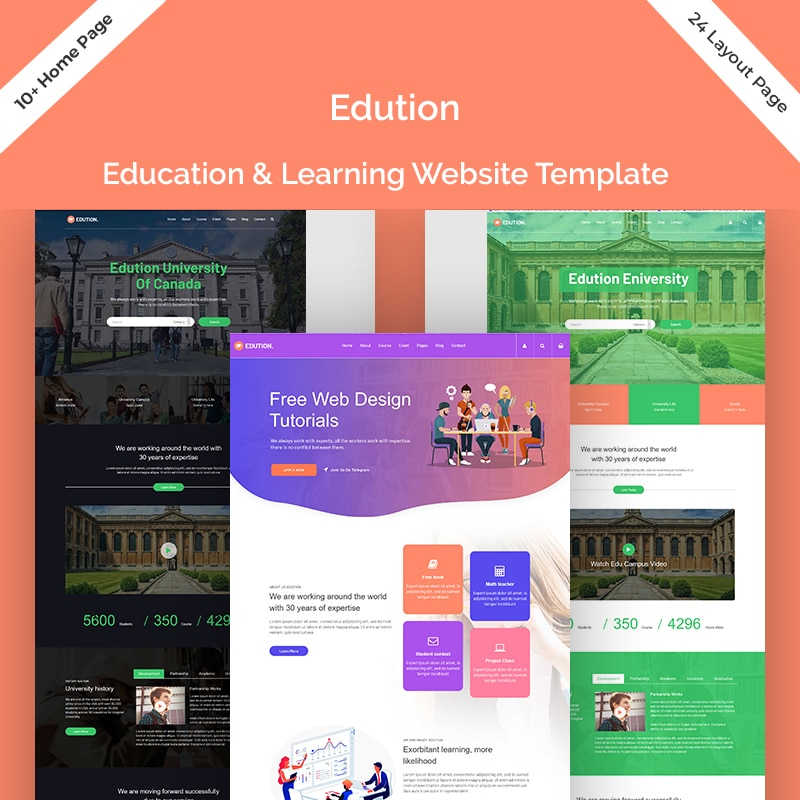 Edution Website Template