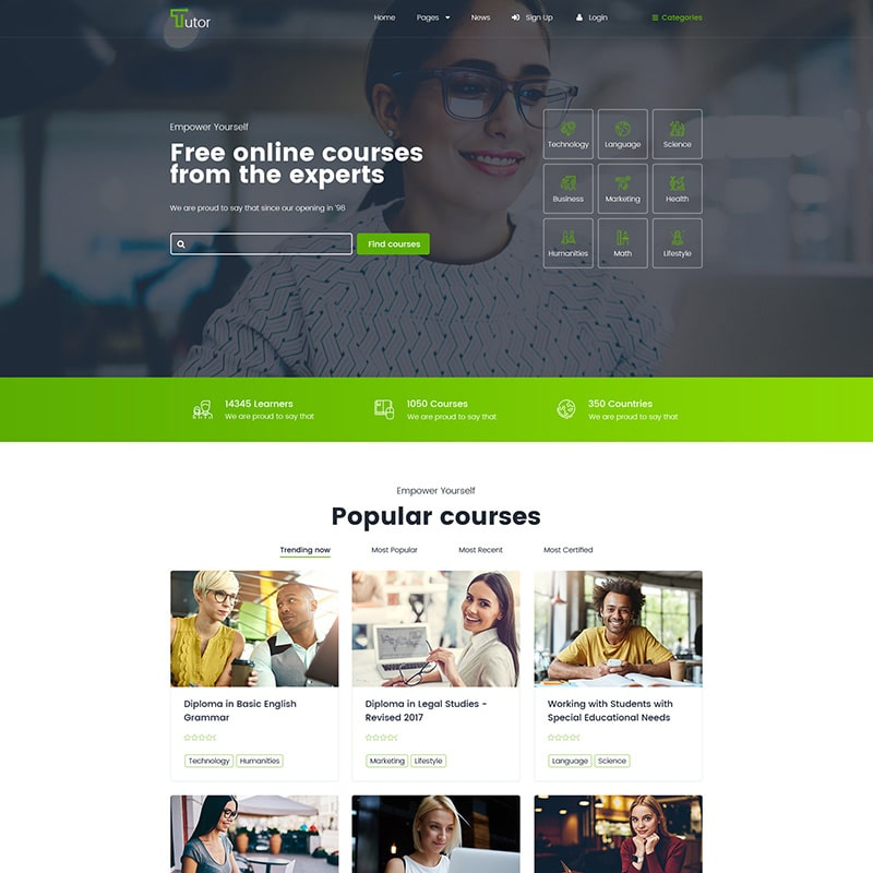 Tutor Website Template