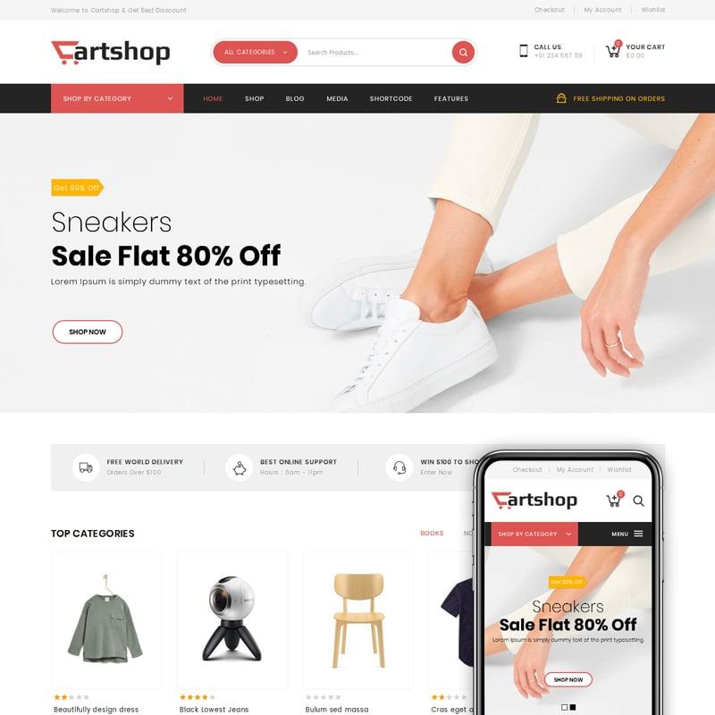 CartShop Website Template