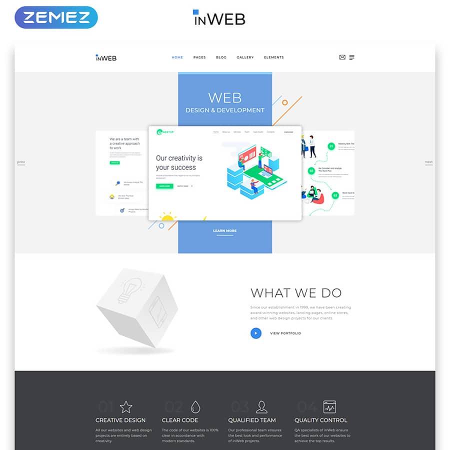 inWeb Website Template