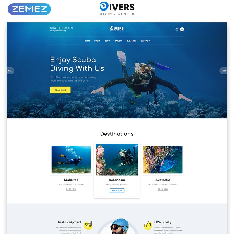Divers Website Template