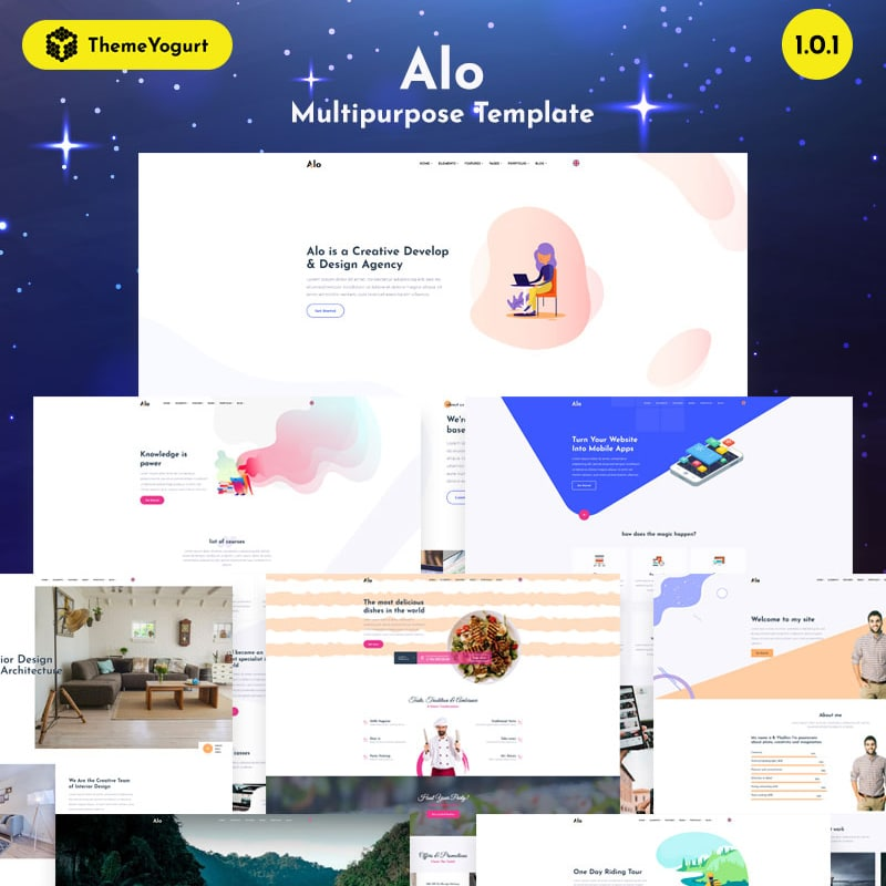 Alo Website Template
