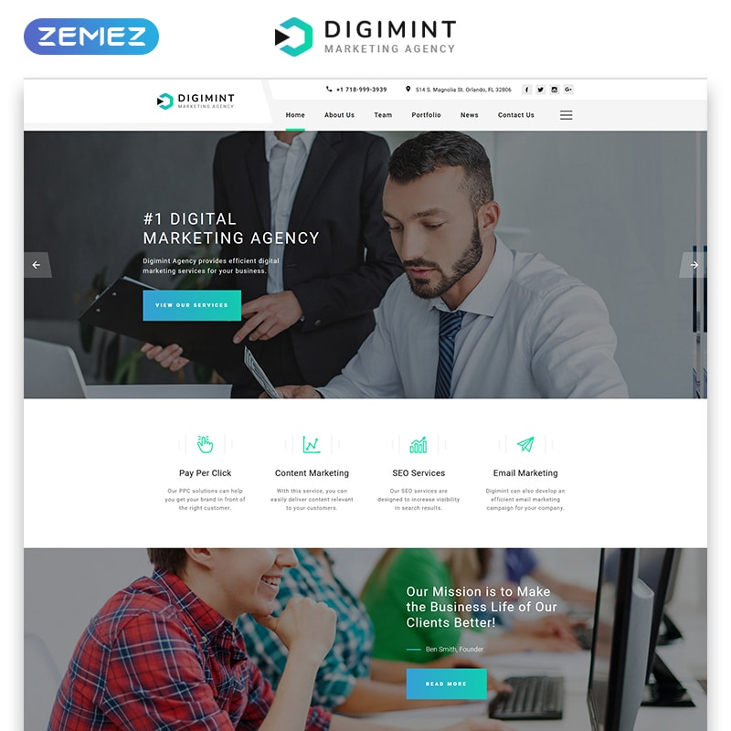Digimint Website Template