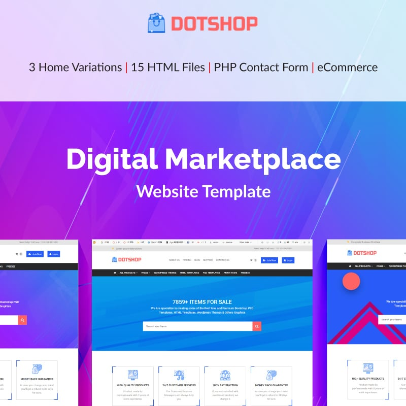 DotShop Website Template