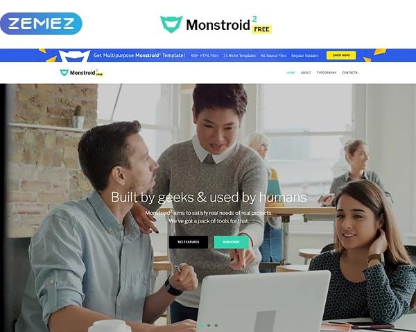 Monstroid2 - Free version HTML Website Template Website Template