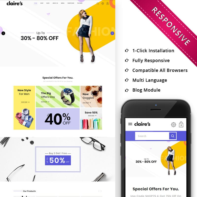 Claires Website Template