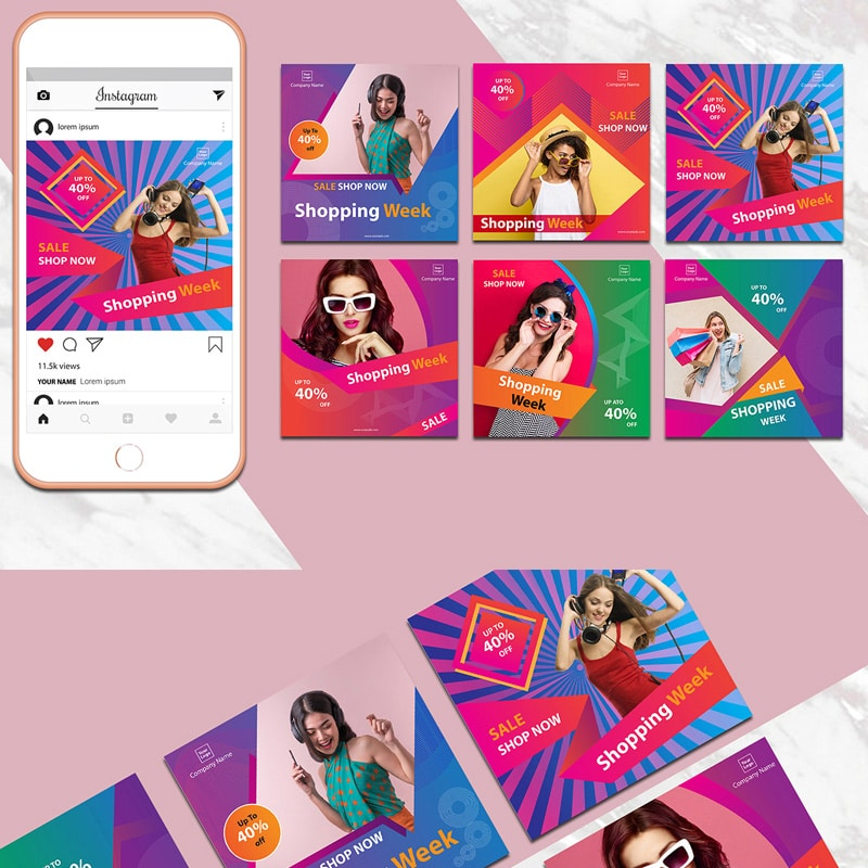 Instagram Banner Pack Website Template