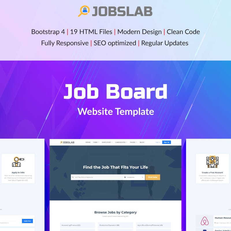 JobsLab Website Template