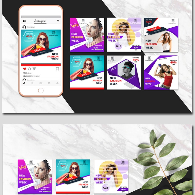 Colorful Banners Website Template