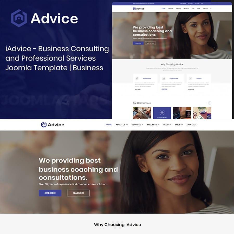 iAdvice Website Template