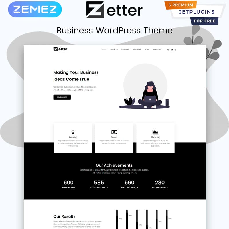 Zetter Website Template