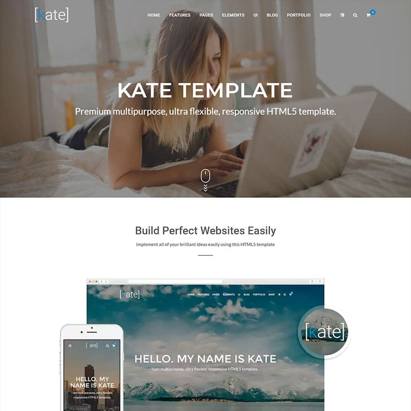 Kate Website Template