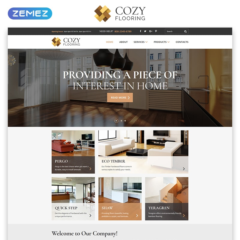 COZY Website Template