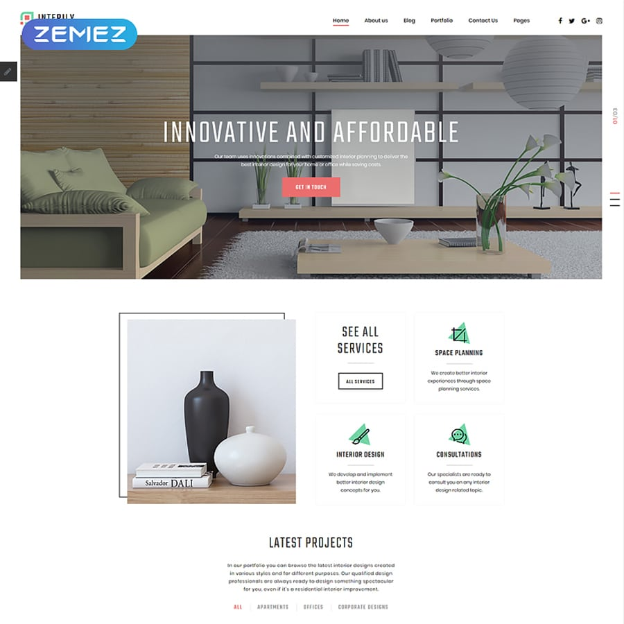 Interily Website Template