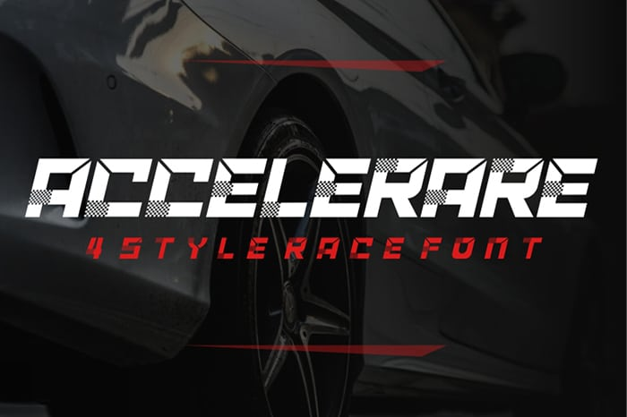 ACCELERARE Font Website Template