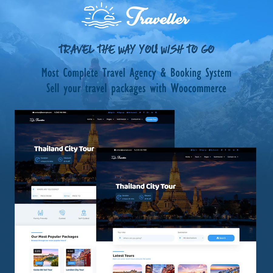 Traveller Website Template