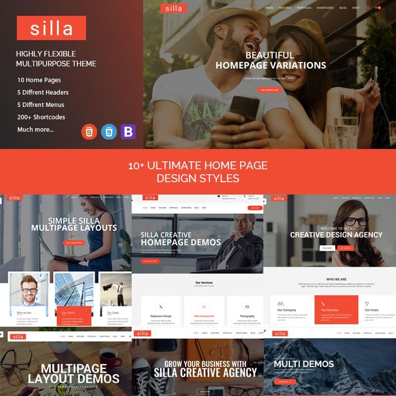 Silla Website Template