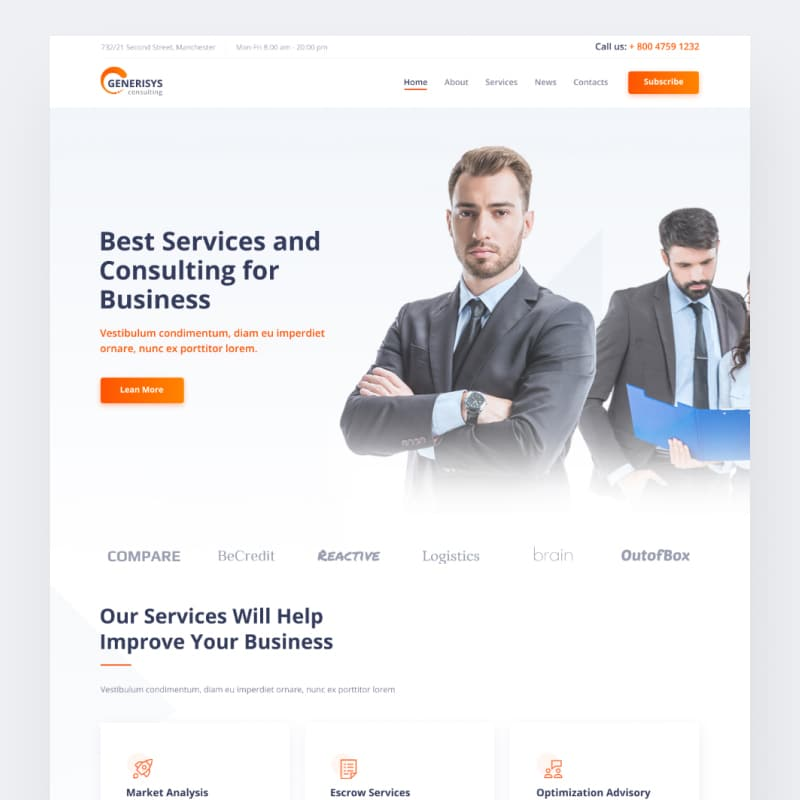 Generisys  Website Template