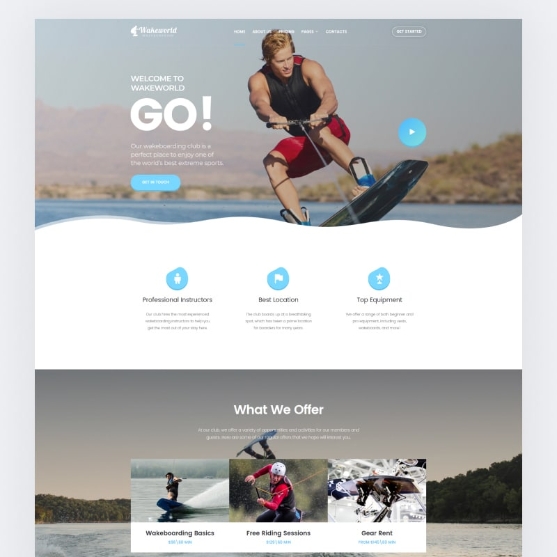 Wakeworld Website Template