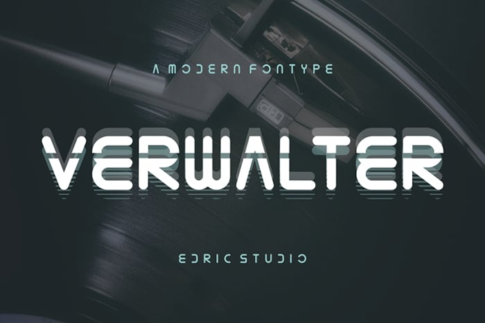 Verwalter Font Website Template