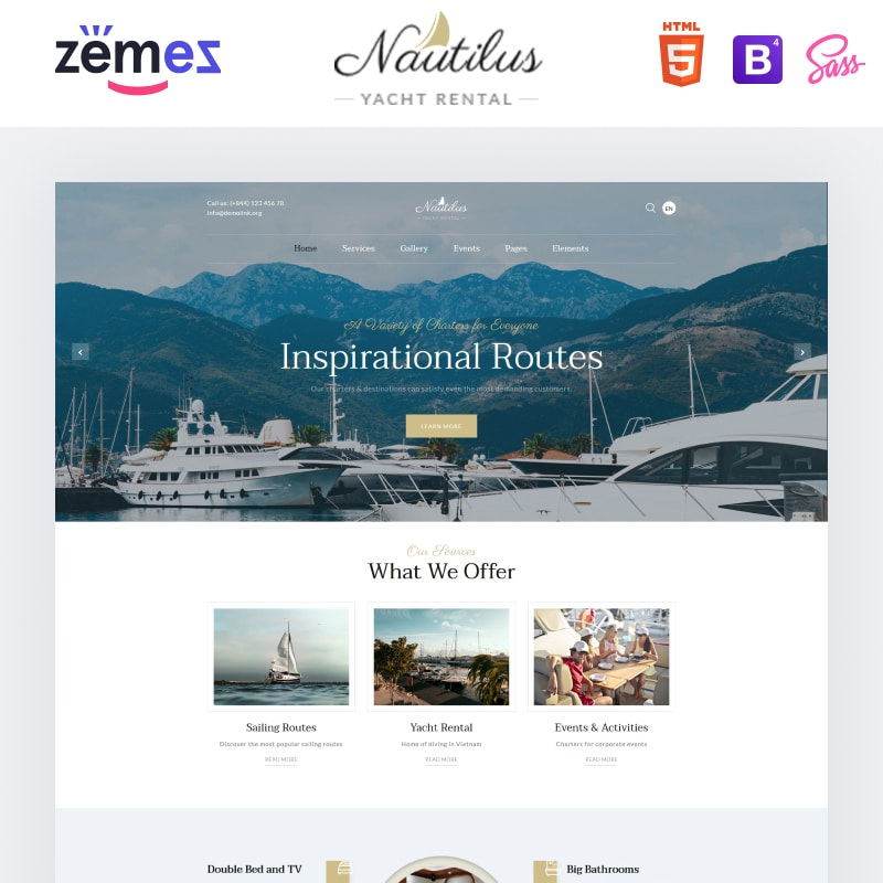 Nautilus Website Template