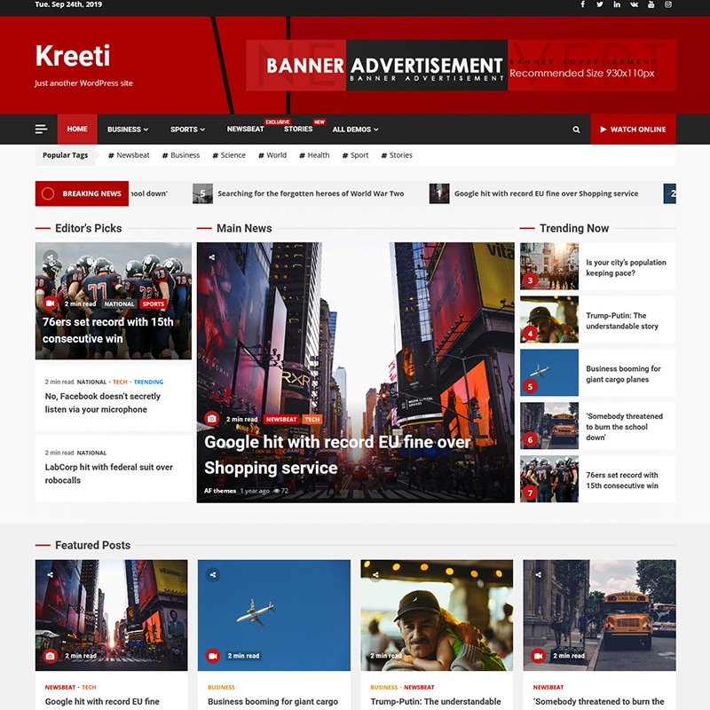 Kreeti Website Template