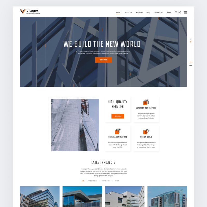 Vitagex Website Template