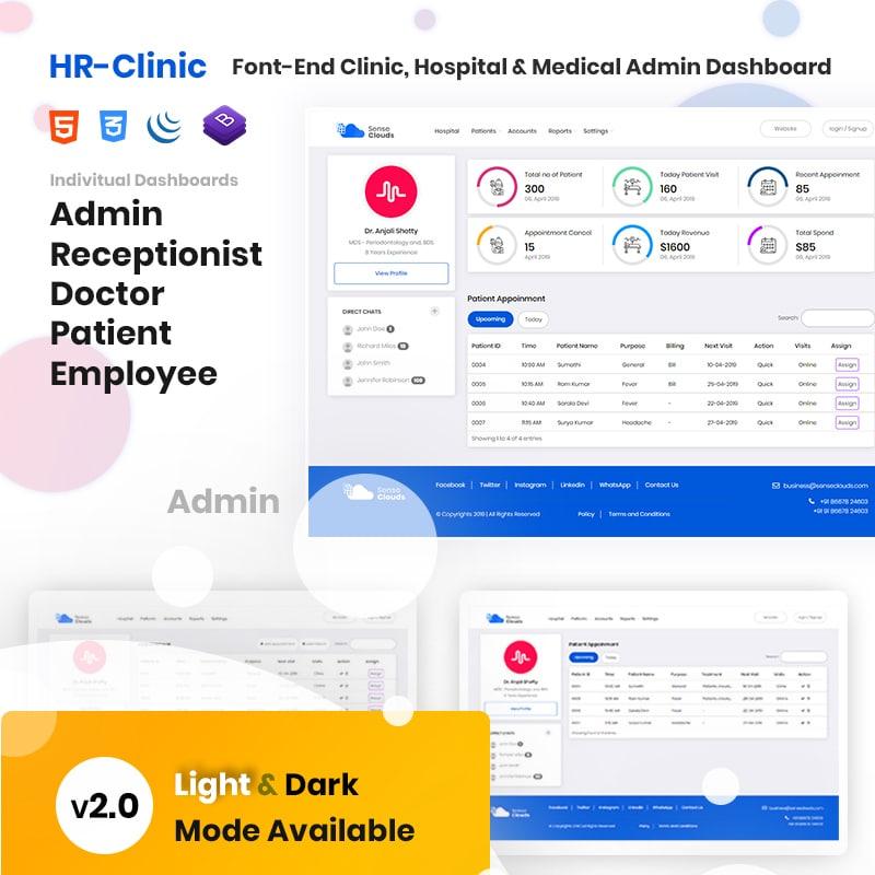 CRM - HR-Clinic Website Template