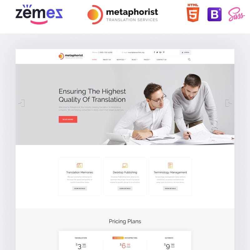 Metaphorist Website Template