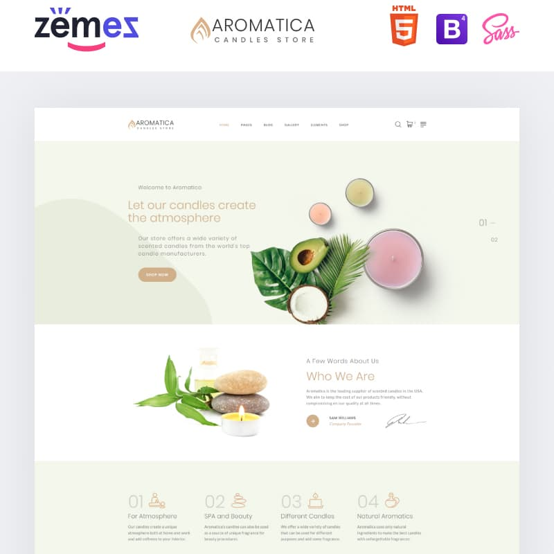 Aromatica Website Template