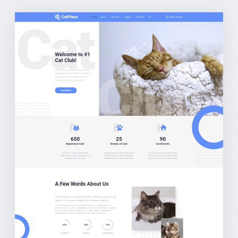 Cat Place Website Template