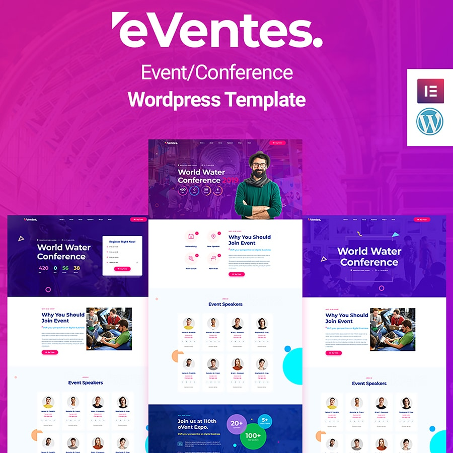 Eventes Website Template