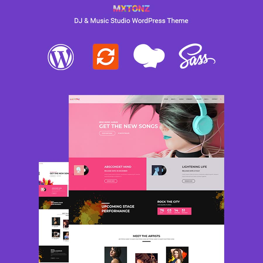 MxTonz Website Template