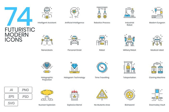 Futuristic Icons Website Template