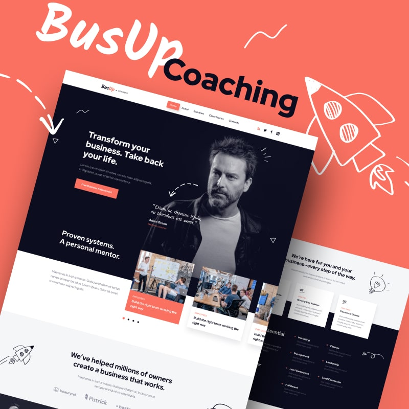 BusUp Website Template