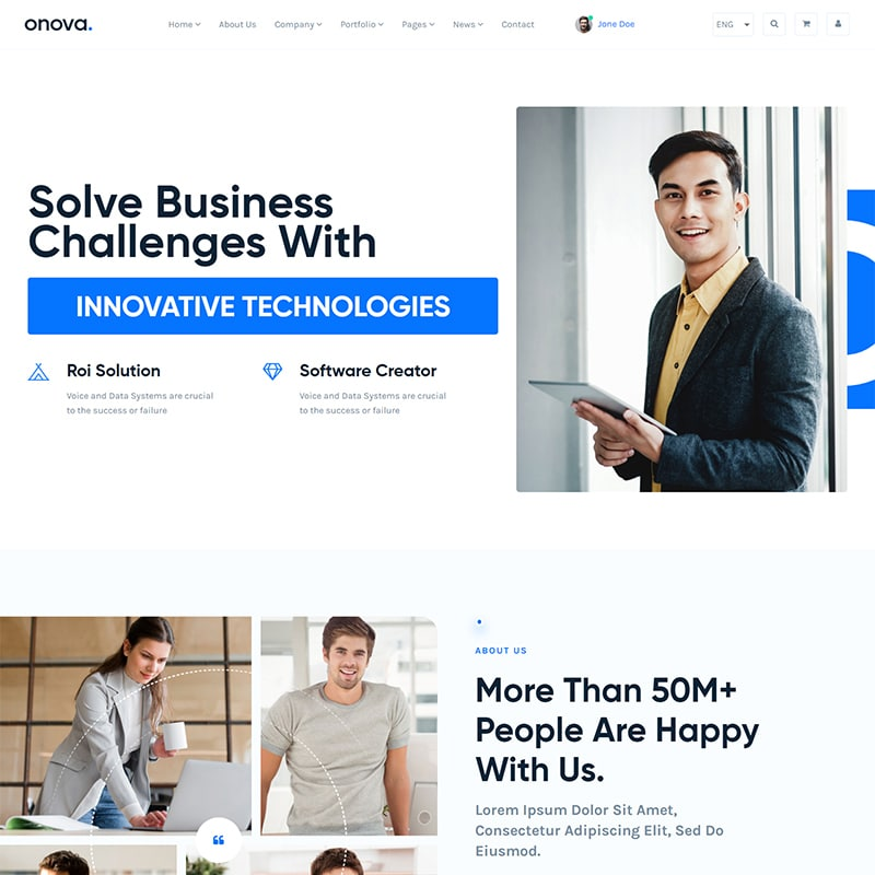 Onova Website Template