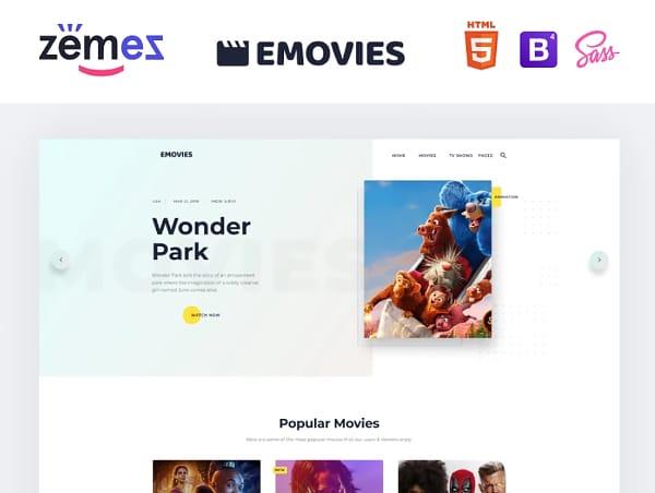 EMovies - Movie Streaming Website Template Website Template