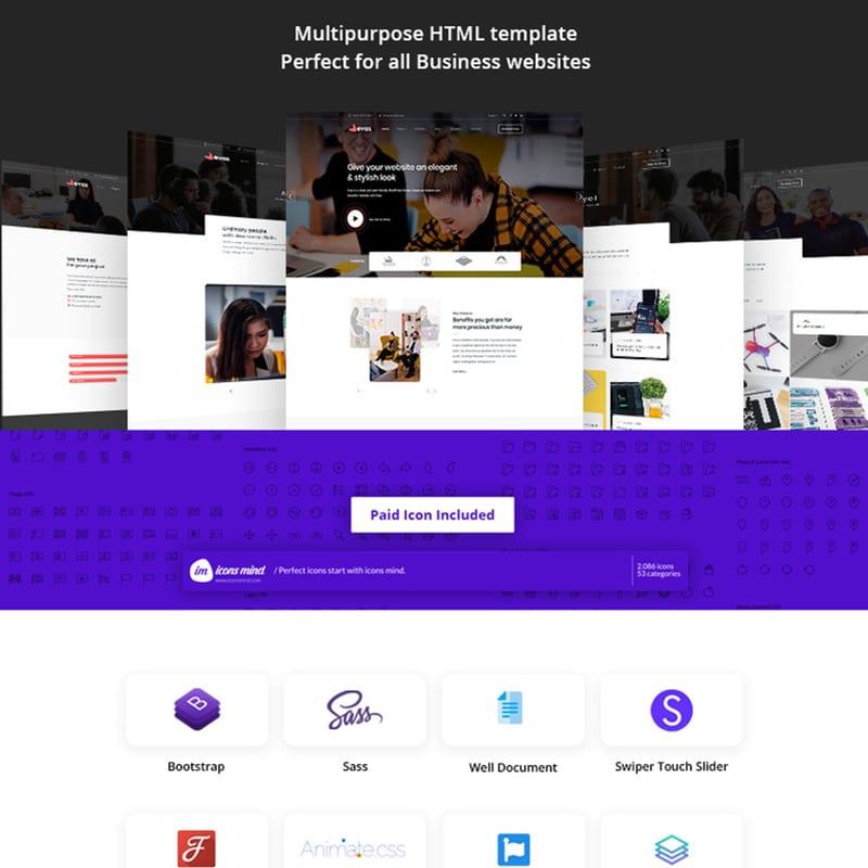 Evas - HTML5 Multi-Purpose Business Website Template Website Template