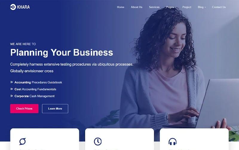 Khara - Vue Nuxt Corporate and Business App Template Website Template