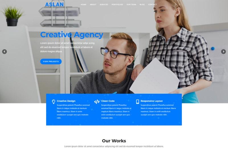 Aslan - Multipurpose WordPress Theme Website Template