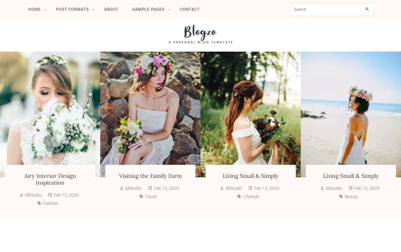 Blogzo - HTML5 Blog Website Template Website Template