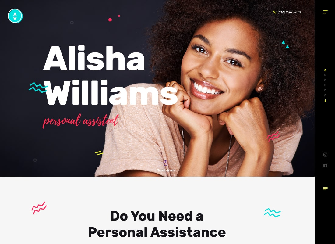A.Williams   A Personal Assistant & Administrative Services WordPress Theme Website Template